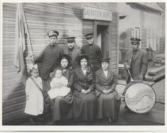 B&W photo of Salvationists of the Douglas Corps in Alaska around (Douglas is near what is now Juneau. Classic Army, Alaska, Painting, Vintage, Collection, Art, Art Background, Painting Art, Kunst