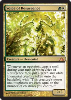 Voice of Resurgence x1 Magic the Gathering 1x Dragon's Maze mtg card in Toys & Hobbies, Trading Card Games, Magic the Gathering | eBay