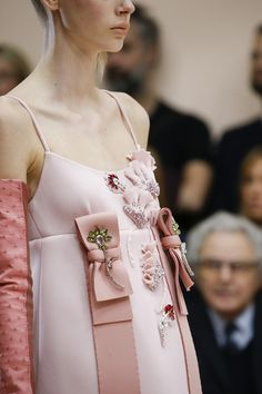 Prada AW15 - pale pink and blush with bows and sparkly embellishments