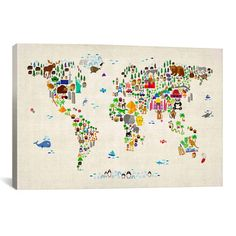 My design inspiration: Animal Map Of The World II on Fab. i gotta have this!
