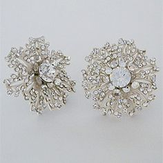 Discover Debra Moreland for Paris Wedding Earrings at Perfect Details.  Vintage inspired couture bridal earrings for weddings & black tie affairs.