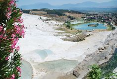 Formed from calcium carbonate that turns into travertine over time, the terraced pools of Pamukkale are absolutely spectacular.