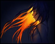 Sunset – – I like drawing colorful glowing hair, DEAL WITH IT! – But yeah … Sunset – – I like drawing colorful glowing hair, DEAL WITH IT! – But yeah I'm really busy so I ain't got time to think of unique… Yuumei Art, Arte Obscura, Pretty Art, Dark Art, Cool Drawings, Art Inspo, Art Girl, Art Sketches, Amazing Art