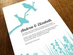 Love putting birds on things: Printable Wedding Invitation - Love Birds $39