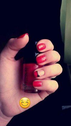 My nails ♡  Schleife und Glitzer