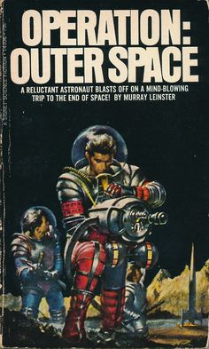 Spacesuits and high-tech rayguns!  #vintage #scifi #art #book #cover