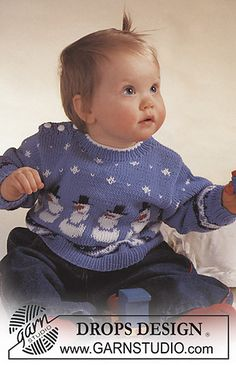 Drops Baby pullover snowmen pattern by DROPS design