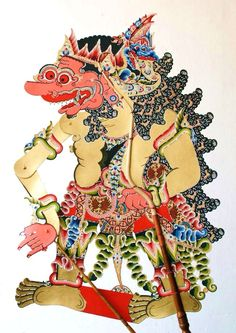 Suratimantra in East Java style, sub-style Mojokerto. Wayang Jekdong-an Javanese, Shadow Play, Shadow Puppets, Fabric Material, Traditional Art, Art Forms, Fabric Design, Asia, Symbols