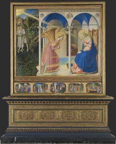 Colección - Museo Nacional del Prado. La Anunciación. Fra Angélico.