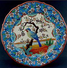 Longwy madaras tányér