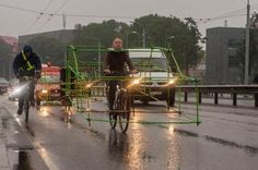 Urban Intervention: cyclists demonstrate the space occupied by cars - 3