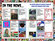 Capture those headlines with this bright news print yearbook design. Yearbook Pages, Vote Leave, Yearbook Design, Grumpy Cat, Leicester, Bright, News, School, Books
