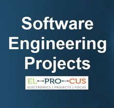 Latest List of Software Engineering Projects for IT and CSE Students Software engineering projects involves designing, development and maintenance of various application based softwares that is useful for cse and mca students
