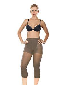 68fe0f33dbd7 Amazon.com: Shapewear For Women Capri - Thermal Slimmer - Waist Cincher  Body Shaper Fajas: Sports & Outdoors