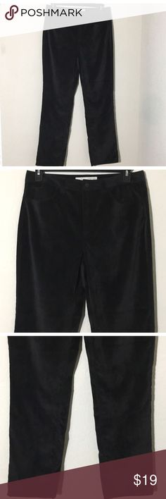 """Jaclyn Smith Angel Fit Black Corduroy Pants Sz 12 Women's Jaclyn Smith Angel Fit black corduroy pants Sz 12 measurements 16.5"""" waist laying flat, 31"""" inseam Excellent condition no flaws Jaclyn Smith Pants Straight Leg"""