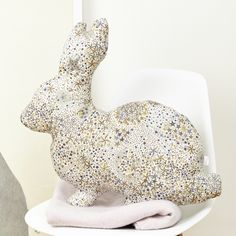 Liberty rabbit cushion