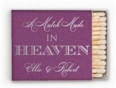 75 A Match Made in Heaven Personalized Matches - 1.00 each on Etsy, $75.00