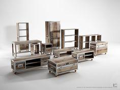 Repurposed teak range, not pallets, but inspiring none the less.