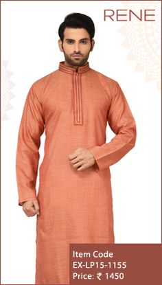 #Exclusive #EthnicWear #Design #Traditional #Trendy #Kurta #Men #Orange #Ootd #Outfit #Fashion #Style #ReneIndia #Brand available on #Flipkart #Snapdeal #paytm