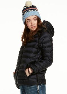 Maison Scotch Dunjakke mørkeblå 101907 Hooded Puffer Jacket - night – Acorns