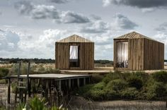 Cabanas No Rio Huts: Die Hütten in Alcácer do Sal wurden von Aires Mareus...