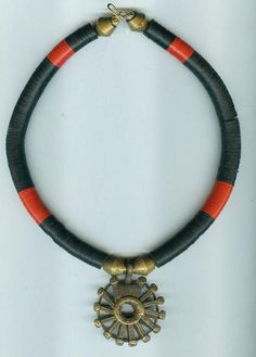 African tribal ethnic necklace with antique by beadartaustria
