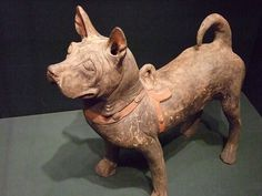 Earthenware Dog China Han Dynasty 206 to 220 CE