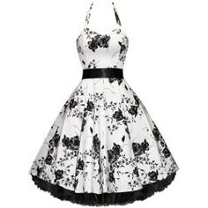 Vintage Halterneck Floral Print Sleeveless Pleated Cute Country Western Dresses For Women