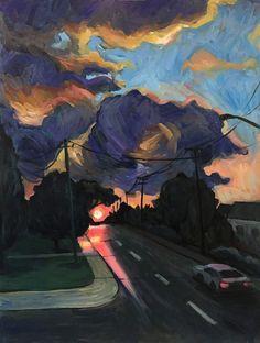 Speed Painting – Sunrise – Kai Liu Art Blog Kai Arts, Art Blog, Sunrise, Drawings, Illustration, Painting, Illustrations, Painting Art, Sunrises