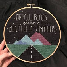 [FO] Sometimes Mondays need to start off with a little inspirational quote! : CrossStitch