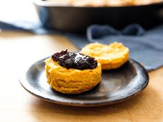 With sweet potato purée standing in for buttermilk, these biscuits are as moist and tender as they are colorful and bright.