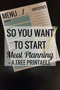 So You Want to Start Meal Planning | Organization | Food and Drink - Very Erin Blog