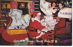 Christmas Postcard Santa Claus Letters North Pole New York Chrome UnPosted 1215 #Christmas