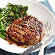 Bourbon-Sauced Pork Chops From Better Homes and Gardens, ideas and improvement projects for your home and garden plus recipes and entertaining ideas.