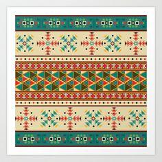 Navajo pattern Art Print by Rceeh - $26.00