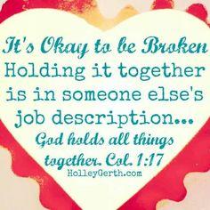 It's OK to be broken