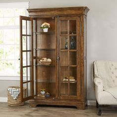 You'll love the Gilcrest Curio Cabinet at Wayfair - Great Deals on all Furniture  products with Free Shipping on most stuff, even the big stuff. Living Room Display Cabinet, China Display, China Cabinet, Free Shipping, Storage, Big, Furniture, Home Decor, Products