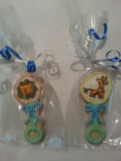 Baby shower cookies / rattle cookies