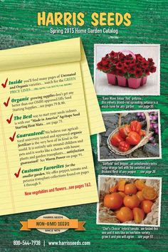 70 Free Seed and Plant Catalogs: Harris Seeds Catalog Garden Catalogs, Plant Catalogs, Seed Catalogs, Free Plants, Flower Seeds, Home And Garden, Organic, Vegetables, Greenhouses