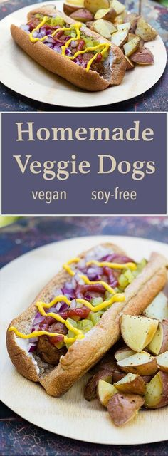 Vegan Hot Dog *for 6 1 tsp Coriander, ground 3 cloves Garlic Onion, medium cup Pinto beans, cooked 1 tbsp Tomato paste 2 tbsp Coconut aminos or soy sauce 1 tsp Mustard, ground cup Oatmeal rolled or quick oats Dog Recipes, Whole Food Recipes, Vegetarian Recipes, Cooking Recipes, Healthy Recipes, Low Fat Vegan Recipes, Seitan Recipes, Recipes Dinner, Dinner Ideas