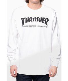 5171abd21a3a Thrasher Skate Mag Long Sleeve White T-Shirt