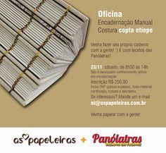 as papeleiras: Oficina :: Caderno com costura Copta Etíope
