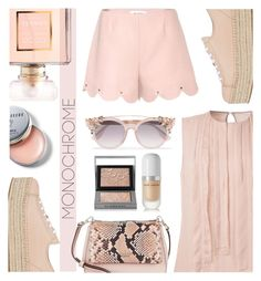 """Pretty Monochrome Pink"" by keepfashion92 ❤ liked on Polyvore featuring Miu Miu, Kate Spade, Chanel, Burberry, Jason Wu, Valentino, Jimmy Choo, Bobbi Brown Cosmetics and Marc Jacobs"