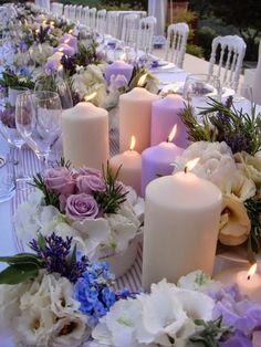 Wedding planner a Roma. Lilac Wedding Themes, Purple Wedding, Wedding Flowers, Wedding Table, Our Wedding, Dream Wedding, Luxury Wedding, Party Centerpieces, Wedding Decorations
