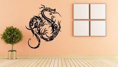Wall Decal Sticker Dragon Wings Dinosaur Chinese Dragon 1677t