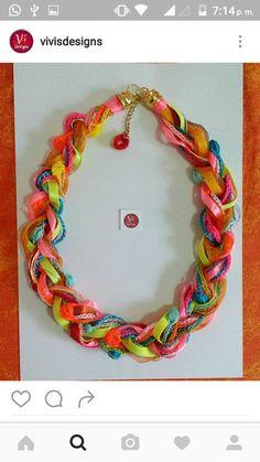 Collar Trenza Mezclote por VivisDesign en Etsy