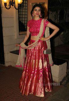 Prachi Desai at Ekta Kapoor's #Diwali bash. #Bollywood #Fashion #Style #Beauty #Hot #Desi #Sexy