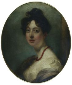 Portrait of Miss Anne Harlow, sister of the painter, by  Harlow. Late 18th century-early 19th century (painted). Oil on canvas. Bequeathed by G. Harlow White. Museum number: 455-1887. Victoria and Albert Museum.