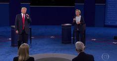 Hillary vence 2º debate contra Trump para 57%, nos EUA, segundo CNN  A que ponto chegou: USA a Nação mais importante em diversos aspectos na Mãe Terra ter isso (?) como representante dos Republicanos!
