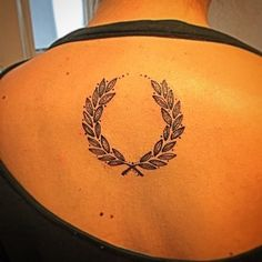 laurel wreath tattoo peace, protection, noble ect Boys names in